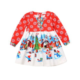 Toddler Infant Girls Floral Christmas Santa Snowman Costume Dress - bump, baby and beyond