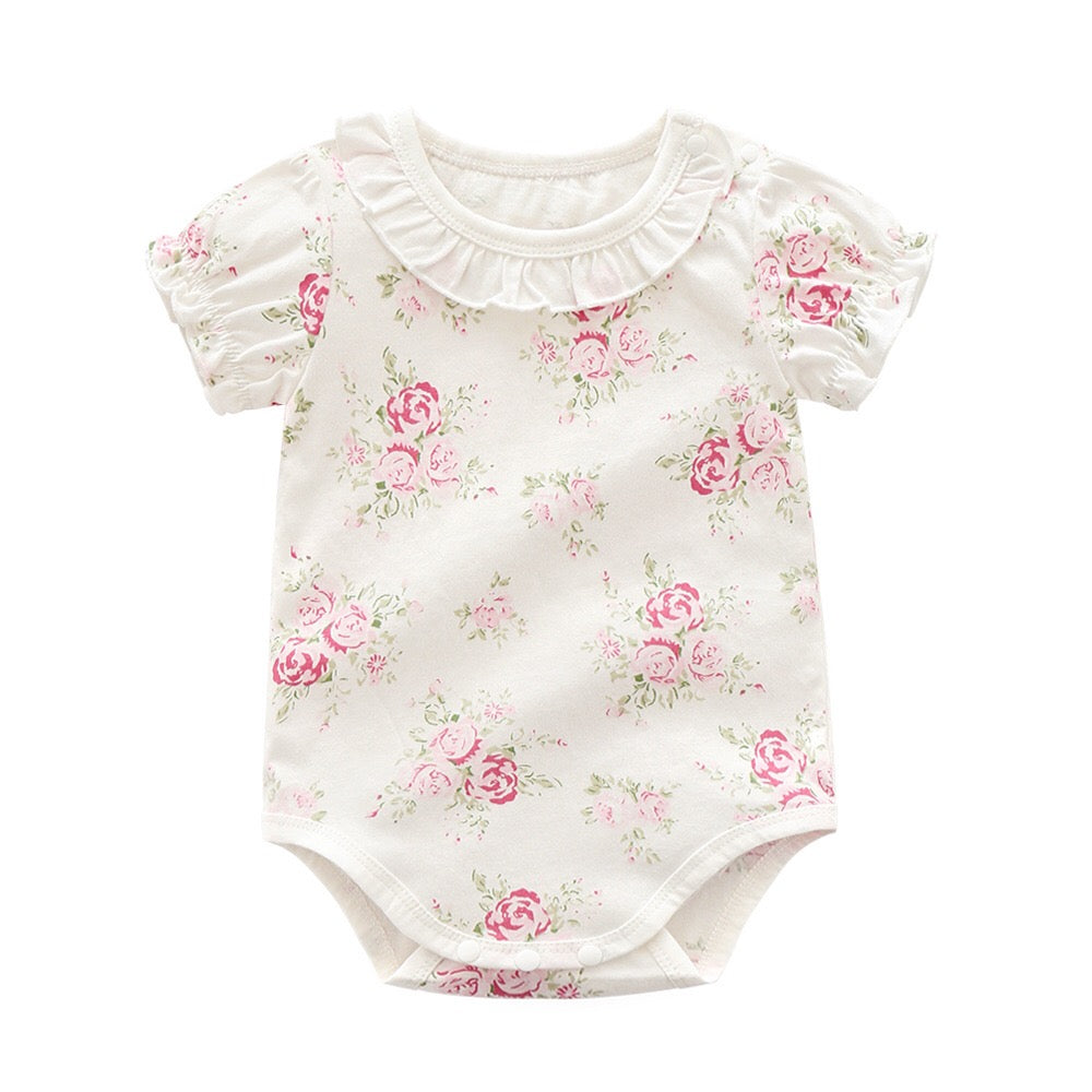 Lovely Girls Flower Printed Jumpsuit Clothes - bump, baby and beyond