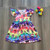 Toddler baby girls flora rainbow dresses - bump, baby and beyond