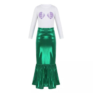 Girls Little Mermaid Purple Shell Halloween Clothes - bump, baby and beyond