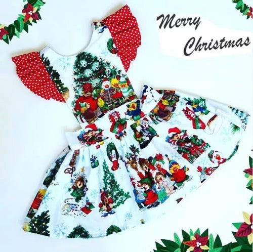Baby Girl Colorful Christmas Dress - bump, baby and beyond
