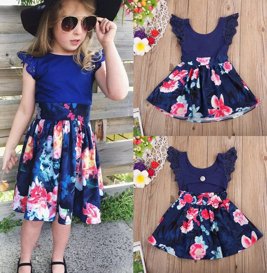 Toddler Girls Sleeveless Flower Floral Dress - bump, baby and beyond