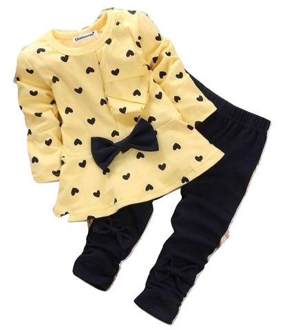 2pcs tops Newborn Baby Girl Polka Dot Outfit Clothes - bump, baby and beyond