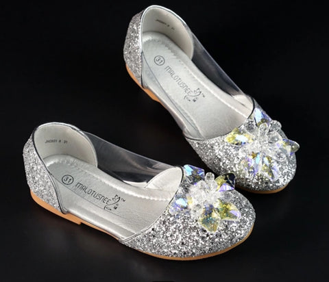 Girl crystal beaded charming diamond flat shoes - bump, baby and beyond