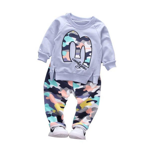 Camouflage jacket pant baby boy+girl warm cotton clothes - bump, baby and beyond