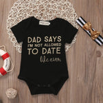 Newborn Baby Girls Daddy's Little Princess Romper Jumpsuit Clothes - bump, baby and beyond