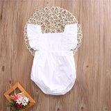 Princess newborn baby romper solid white clothes - bump, baby and beyond