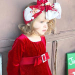Adorable Princess Red Christmas Flannel Dress - bump, baby and beyond