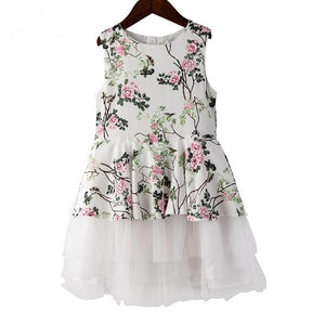 Girls Flower Dress Summer Party Clothes - bump, baby and beyond