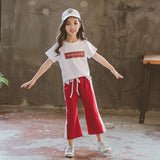 Girls t-shirt tops + sweatpants sport suit clothes - bump, baby and beyond