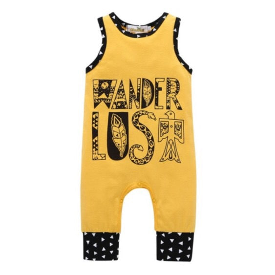 Summer Sleeveless Adventurer Yellow Romper Clothes - bump, baby and beyond