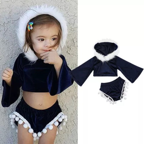 Toddler hooded tops/tassels short clothes - bump, baby and beyond