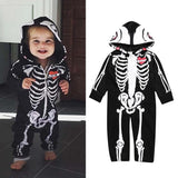 Baby skull zipper romper hooded jumpsuit costume - bump, baby and beyond