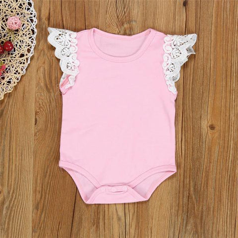 Newborn summer baby lace rompers cotton jumpsuit clothes - bump, baby and beyond