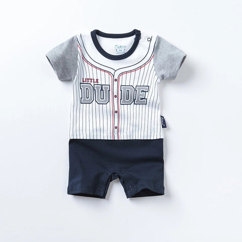 Newborn baby boys romper cotton short sleeve clothes - bump, baby and beyond