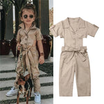 Fashion Toddler Girls England Styles Jumpsuit - bump, baby and beyond