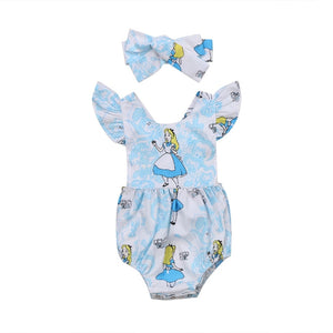 Newborn Baby Girls Ruffles Jumpsuit Clothes - bump, baby and beyond