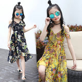 Bohemian Style Floral Sleeveless Girls Dresses - bump, baby and beyond
