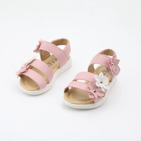 Lovely girl flower sandals shoes - bump, baby and beyond