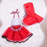 Christmas baby girl tulle red hood cape cloak+dress - bump, baby and beyond