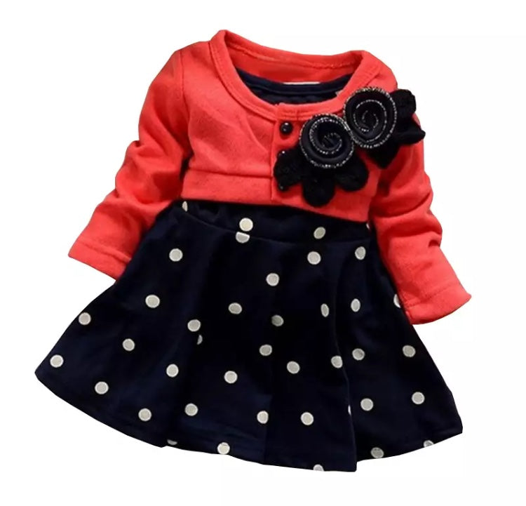 Baby Girl Cotton Flower Dress Clothes - bump, baby and beyond
