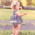 Summer Baby Girl Backless Stripe Outfit Dress - bump, baby and beyond