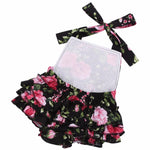 Summer Baby Girls Floral Print Rosette Novelty Romper Clothes - bump, baby and beyond