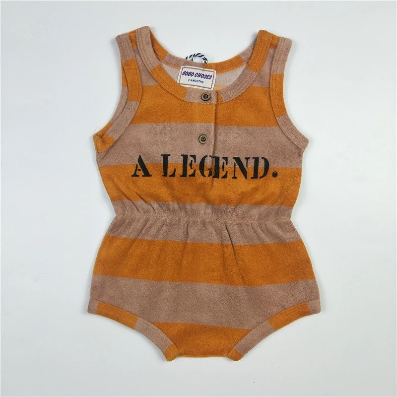 Striped Colored Baby Girl Romper Legend Clothes - bump, baby and beyond