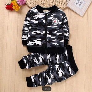 Infant Boys Girls Camouflage Military Sets Clothes - bump, baby and beyond