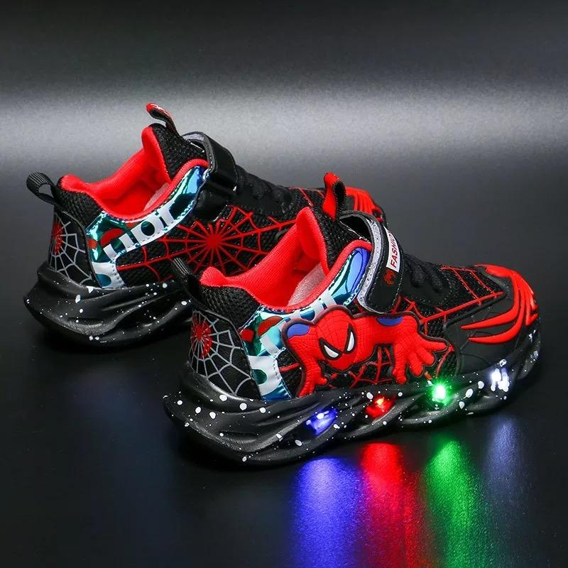 Children Glittering Led Spider-Man  Light Up Shoes - bump, baby and beyond