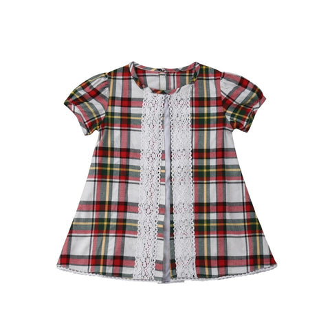 Toddler Baby Girls Plaid Ruffles Dress - bump, baby and beyond