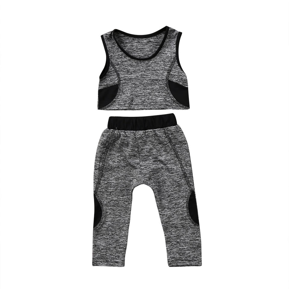 Exquisite Girls Sleeveless Tops Pants Outfit - bump, baby and beyond