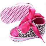 Unisex Floral Leopard Soft Sole Shoes - bump, baby and beyond