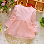 Baby Girls Long Sleeve Lace Bow Birthday Dress - bump, baby and beyond
