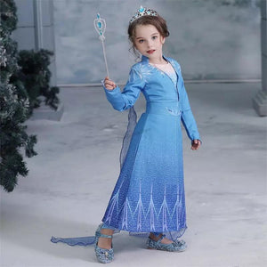 Girls Elsa Snow Queen Ice Princess Halloween Costume - bump, baby and beyond