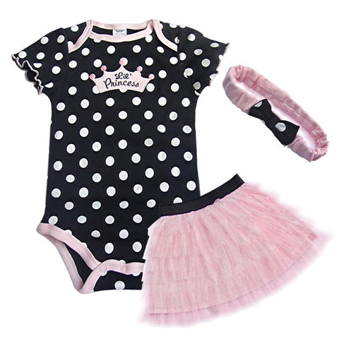 Baby girl little princess Romper+skirt+Headband clothes - bump, baby and beyond