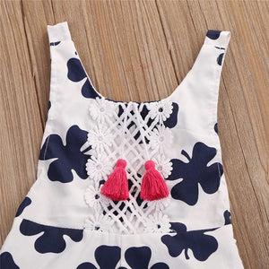 Baby Girls Romper Leaf Sleeveless Clothes - bump, baby and beyond