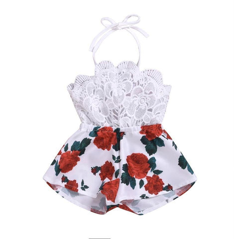 Newborn Baby Girl Strap Romper One Piece Clothes - bump, baby and beyond