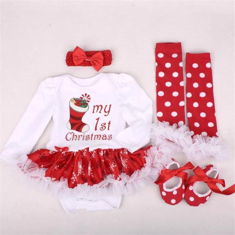 Adorable Baby Girl Dress Jumper Suit Footwear Socks Hairband Outfit Clothes - bump, baby and beyond
