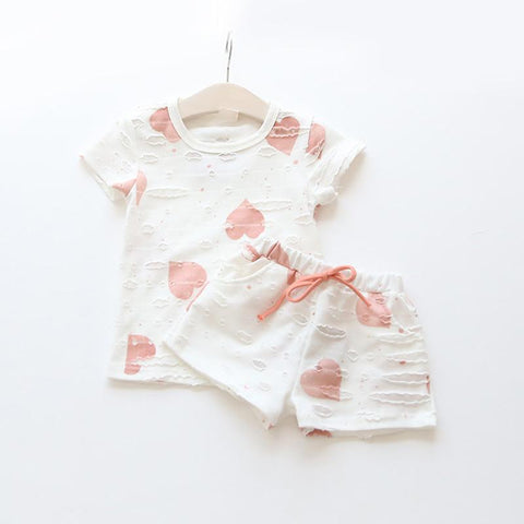 summer girls short sleeve shirt + shorts clothes - bump, baby and beyond