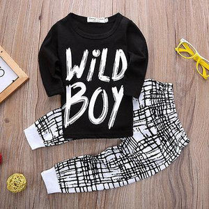 Summer T Shirt Wild Boy Baby boy Pants Suit Clothes - bump, baby and beyond