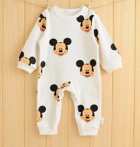 baby boy girl long sleeve cartoon jumpsuit - bump, baby and beyond