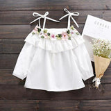 New White T Shirt Kids Top Toddler Summer Blouse Clothes - bump, baby and beyond
