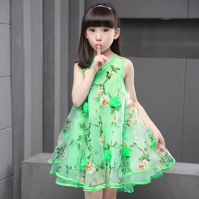 Teen Girl Sleeveless 3D Flower Party Dress - bump, baby and beyond