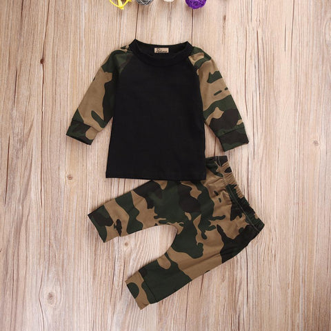 Bump baby boys army green tops + pants outfit - bump, baby and beyond