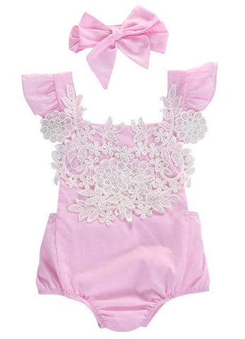 Cute Pink Romper Onesies Baby Girls Clothes - bump, baby and beyond