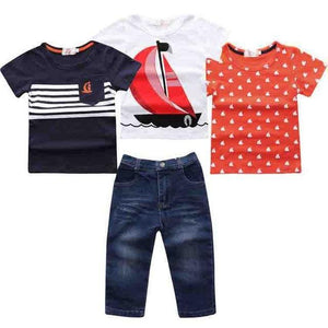 NEW summer boys Short Sleeve + Denim Pants Clothing - bump, baby and beyond