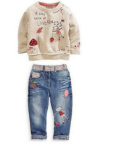Casual Girls Tops Denim Jeans Pants Outfit Clothes - bump, baby and beyond