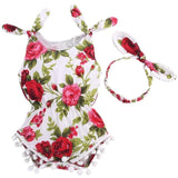 Set Of Elastic Waist Newborn Baby Suit Romper With Headband - bump, baby and beyond
