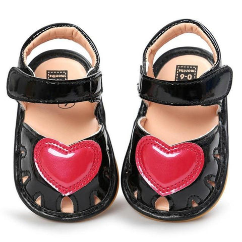 Newborn girls sandals anti-slip soft sole shoes - bump, baby and beyond